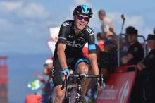Chris Froome (Team Sky) was close to the stage win but was a winner on the day as he moved into second overall