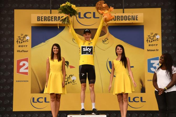 Chris Froome in yellow after the Tour's 10th stage