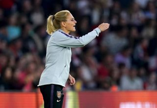Sarina Wiegman oversaw a comfortable victory over North Macedonia in her first game as England manager.