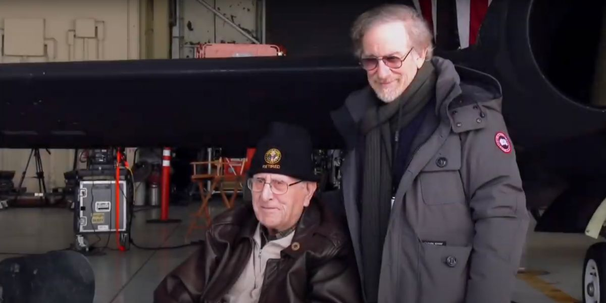 Steven and Arnold Spielberg