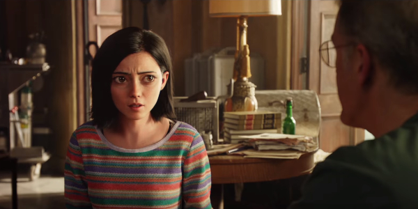 Alita: Battle Angel Rosa Salazar confused look