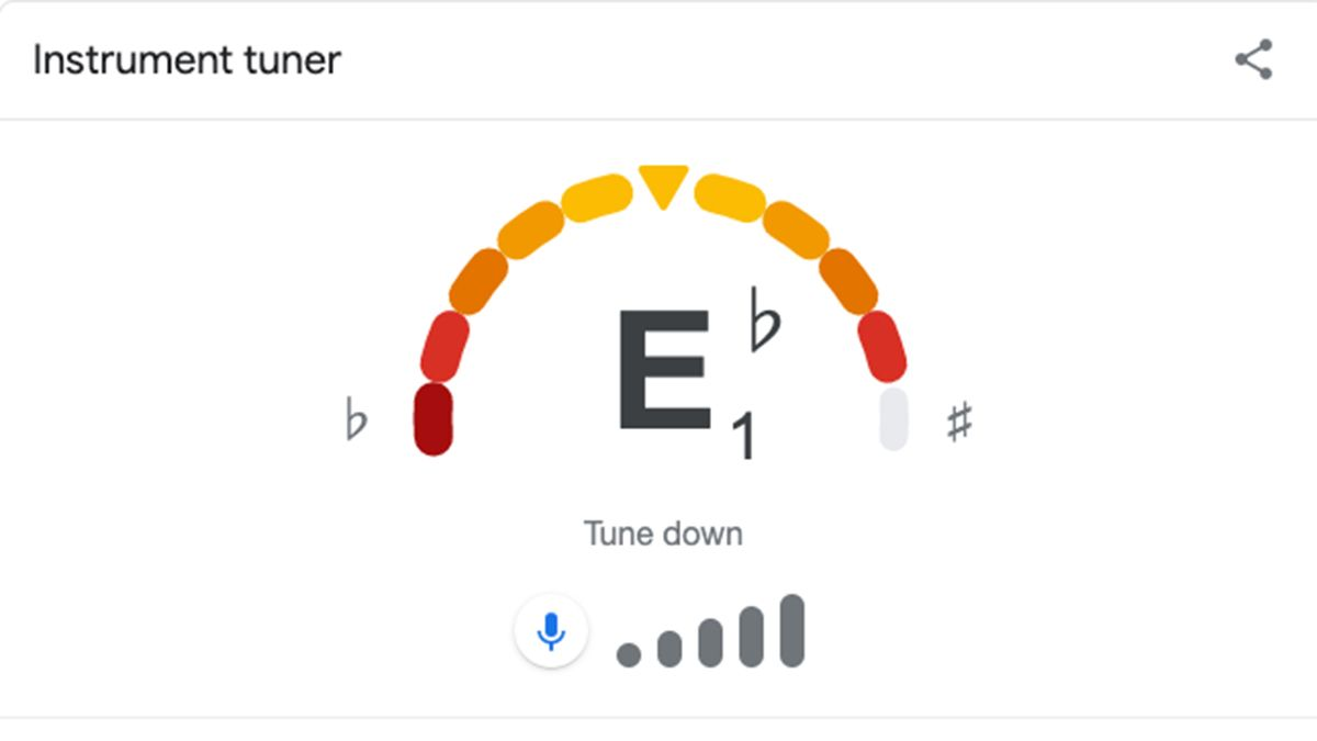 Google now has a free built-in guitar tuner, so you'll never be without one