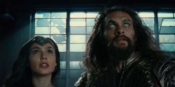 Wonder Woman and Aquaman standing together in Justice League