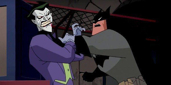 Kevin Conroy's Batman faces off against Mark Hamill's Joker