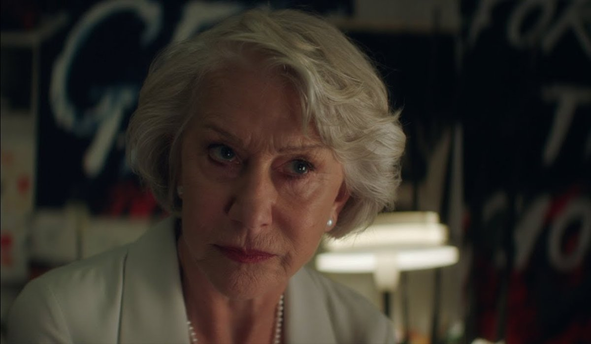 The Good Liar Helen Mirren listening intently