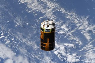 Japan's HTV-9 freighter departs the International Space Station on Aug. 18, 2020.