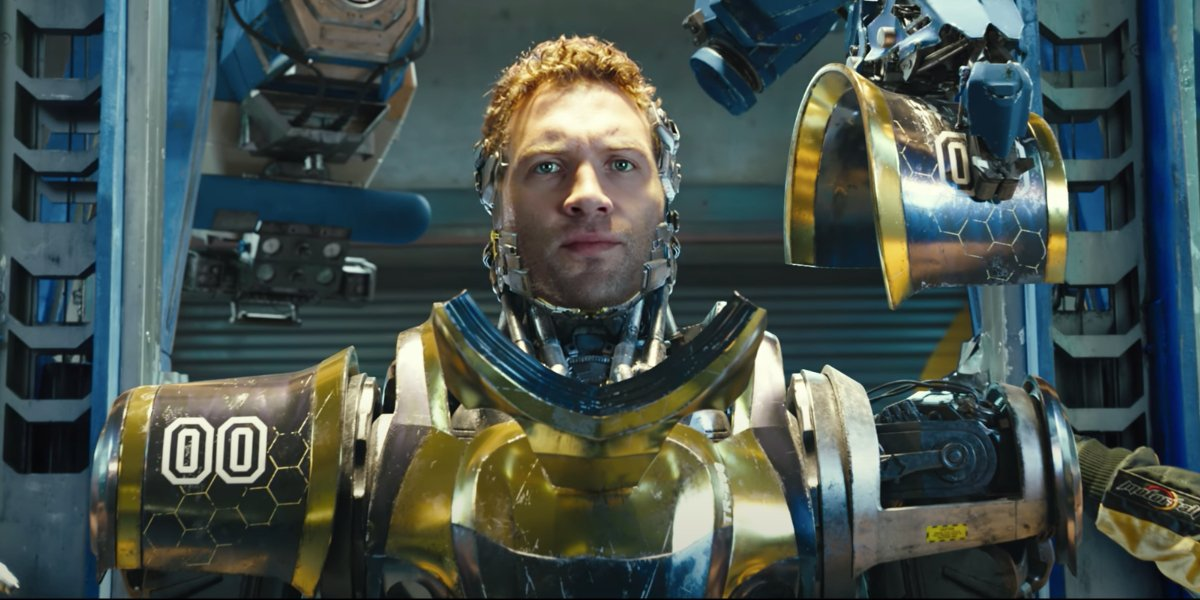 Alita: Battle Angel Jai Courtney in his Motorball armor