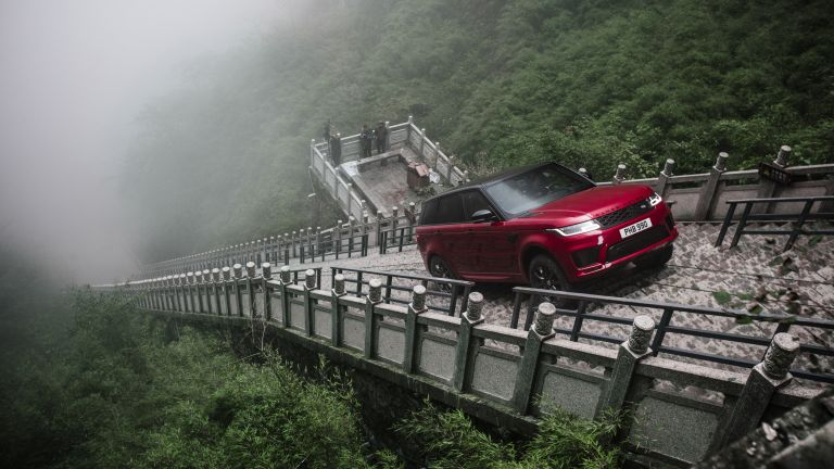 Watch the new Range Rover Sport PHEV literally climb the stairway to heaven