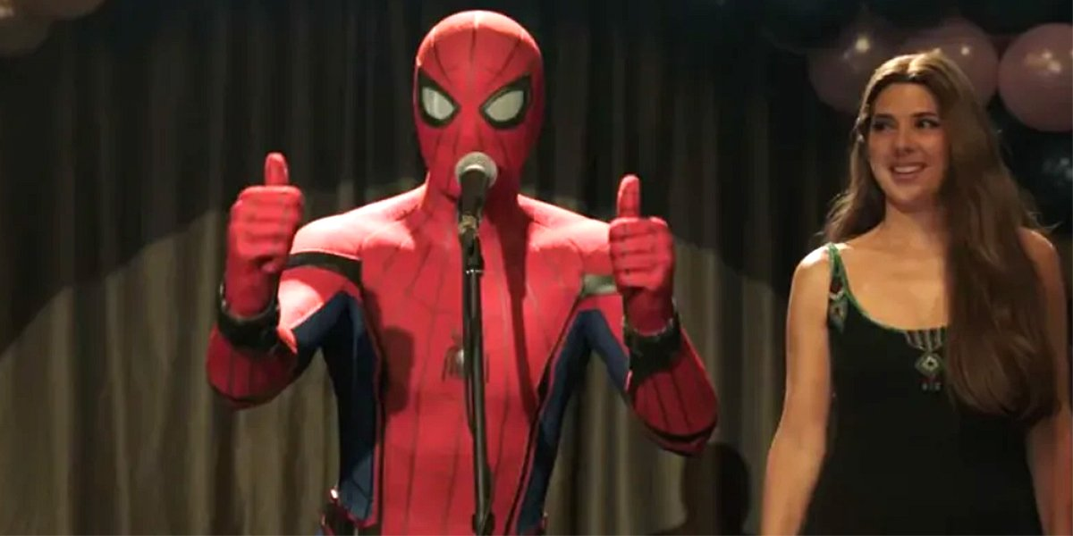 Spider-Man: Far From Home thumbs up with Aunt May