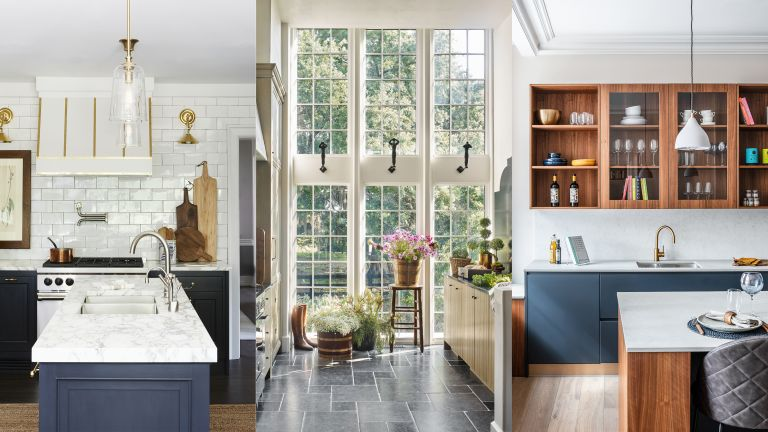 A composite of small kitchen layout ideas