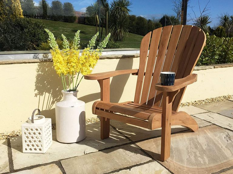 best Adirondack chairs: teak Adirondack chair by Inspiring Furniture