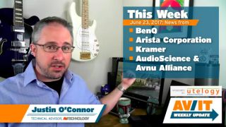 [VIDEO] AV/IT Weekly Update: BenQ RP 750K, Arista IP Flash Caster, Kramer IP DSP, AudioScience & Avnu Alliance