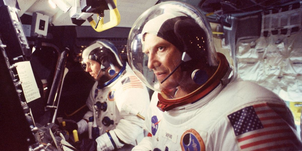 Daniel Kelly and Tom Amandes in From the Earth to the Moon