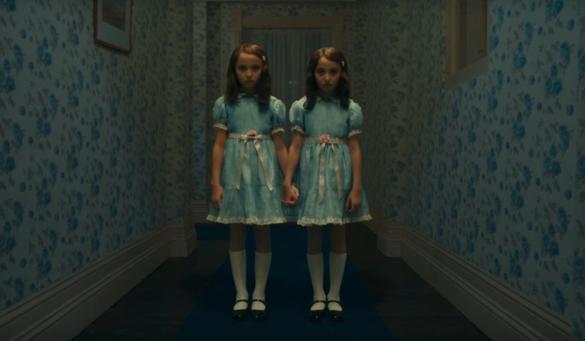 Doctor Sleep The Grady twins stand in the middle of the hallway