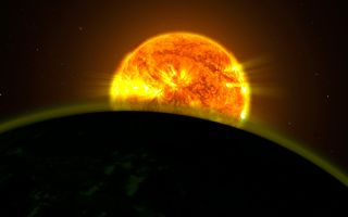 Faint Signatures of Water in Exoplanet's Atmosphere Artist's Concept