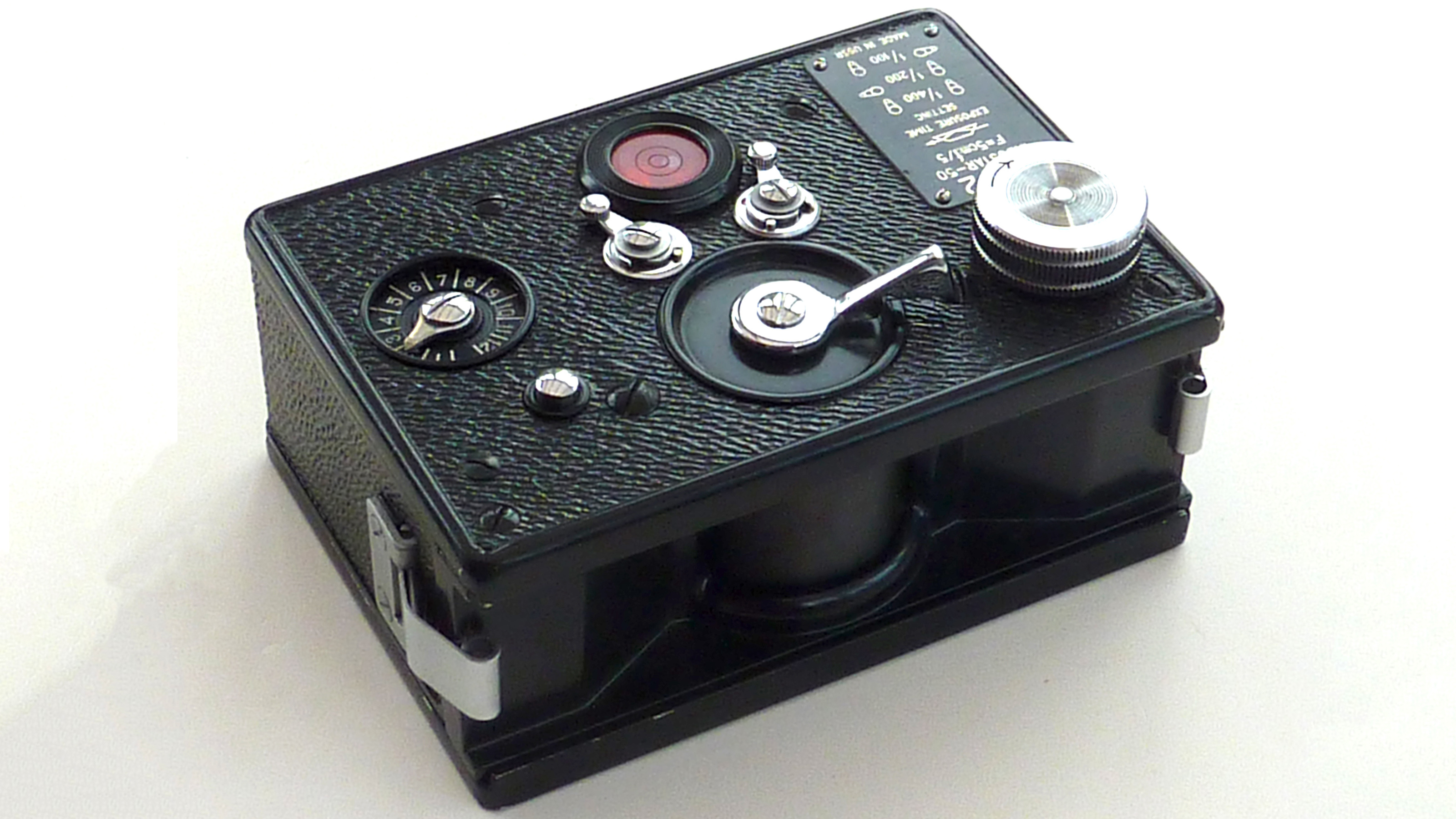 The top of the Kraznogorsk FT-2 camera