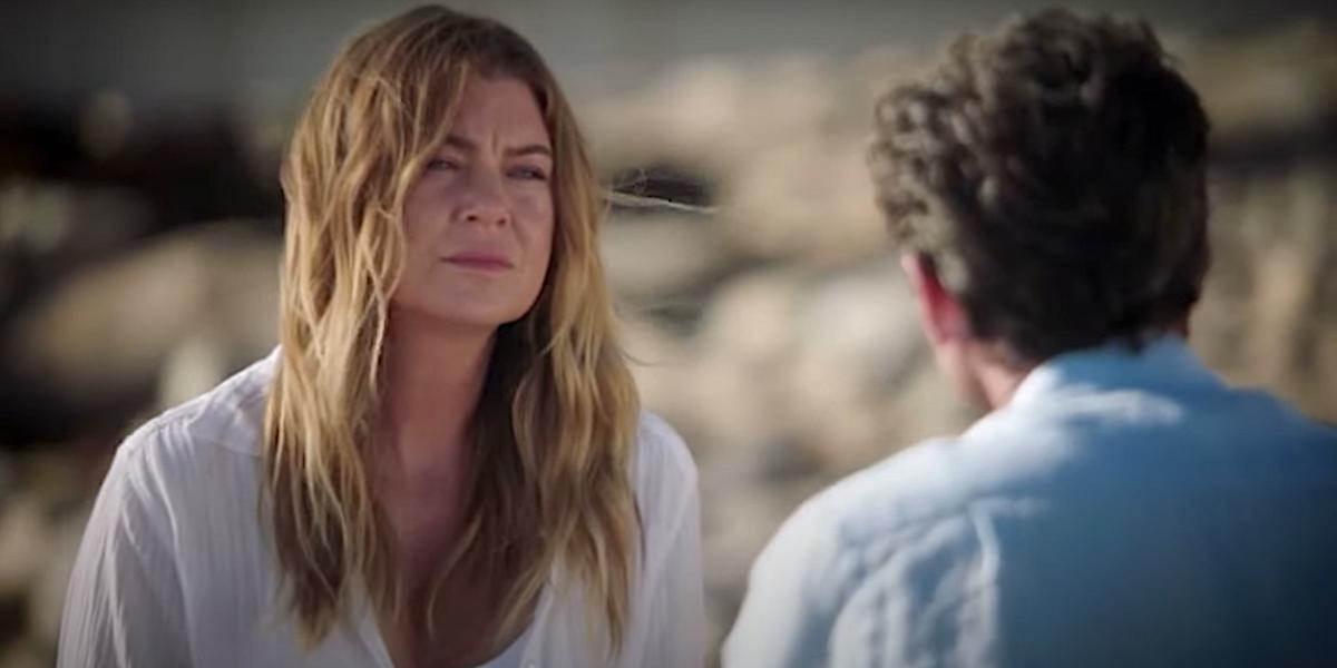 Grey's Anatomy Meredith Grey Derek Shepherd beach