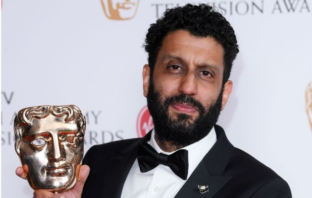 Adeel Akhtar with his BAFTA Award