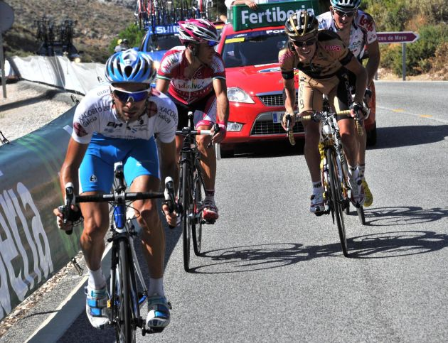 Marcos Garcia late attack, Vuelta a Espana 2010, stage two