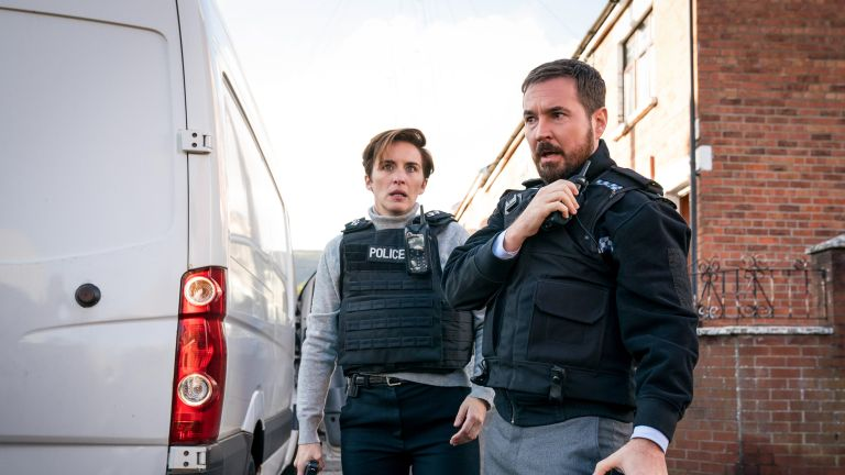 Vicky McClure and Martin Compston in BBC's Line of Duty
