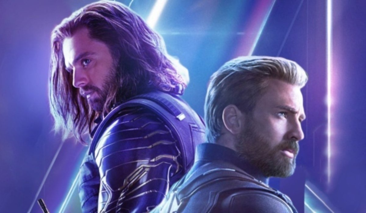 Avengers: Infinity War Bucky and Cap facing separate ways on the poster