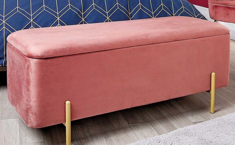 Aldi pink velvet ottoman