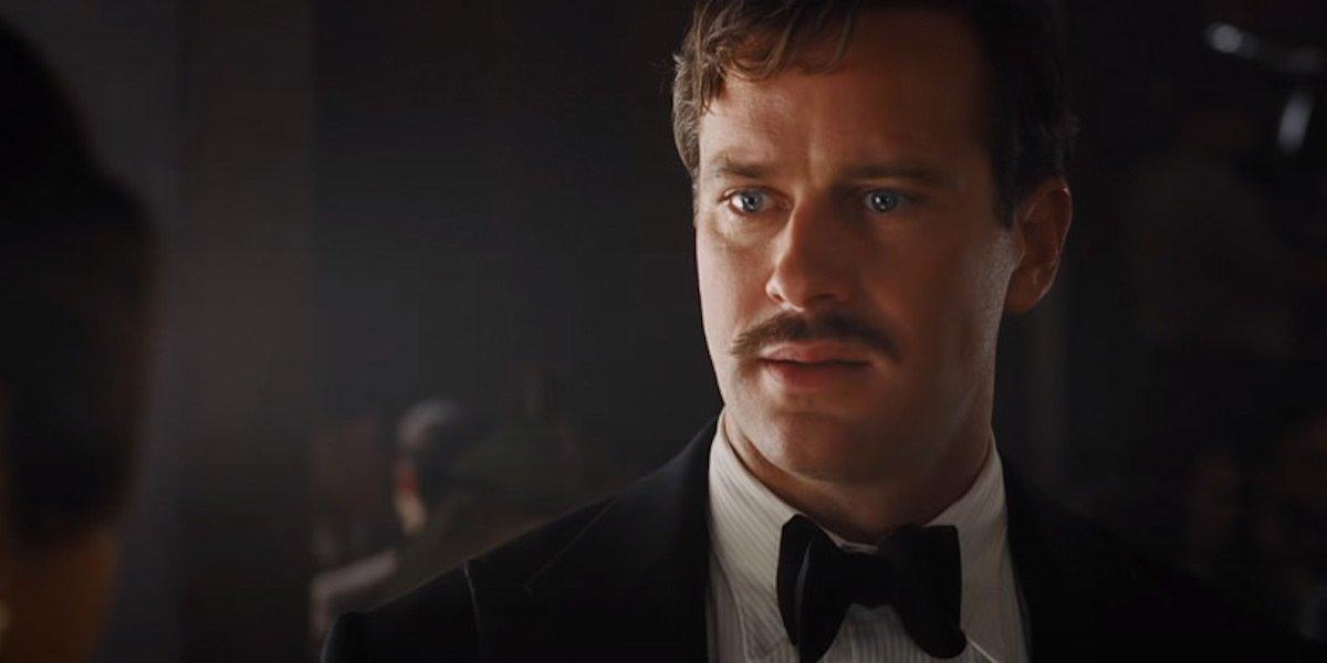 Armie Hammer as Simon Doyle in Death on the Nile