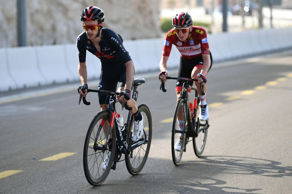 Adam Yates tried but failed to distance Tadej Pogacar on the climb
