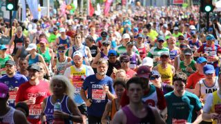 A photo of runners at the London Marathon