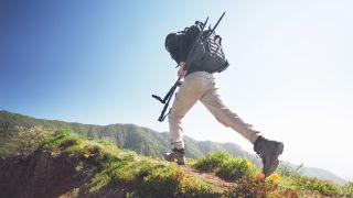 best hiking pants: man striding