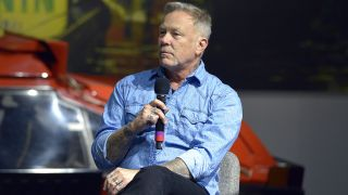James Hetfield at the Petersen Automotive Museum on Thursday