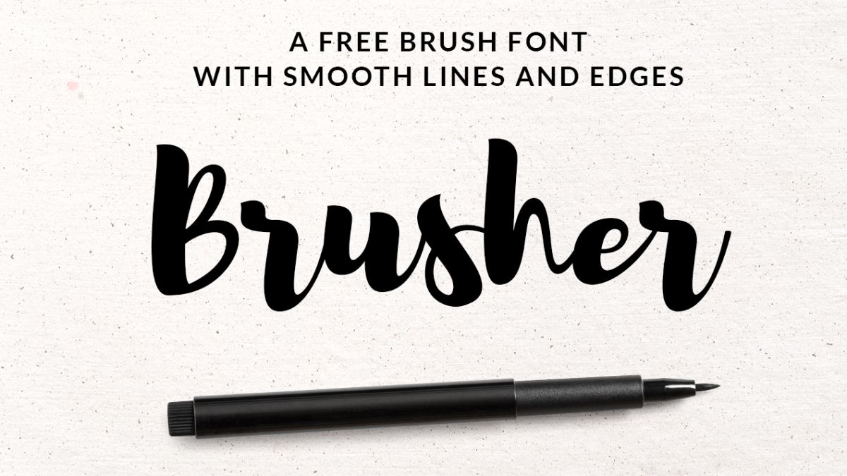 free brush fonts for commercial use