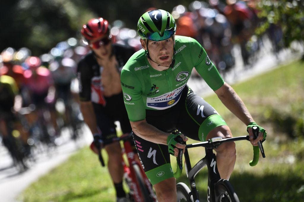 Sam Bennett kept the green jersey for another day