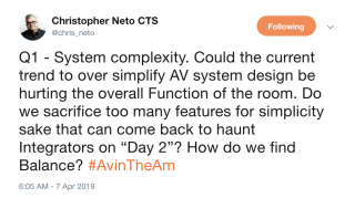 #AVintheAM on systems complexity