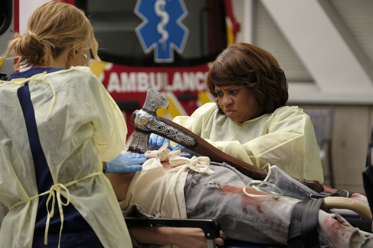 Grey's Anatomy Season 16 Halloween episode Bailey hammer ABC