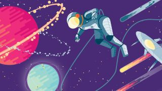 An illustrated astronaut floats in space, representing the new frontier of CSS animation