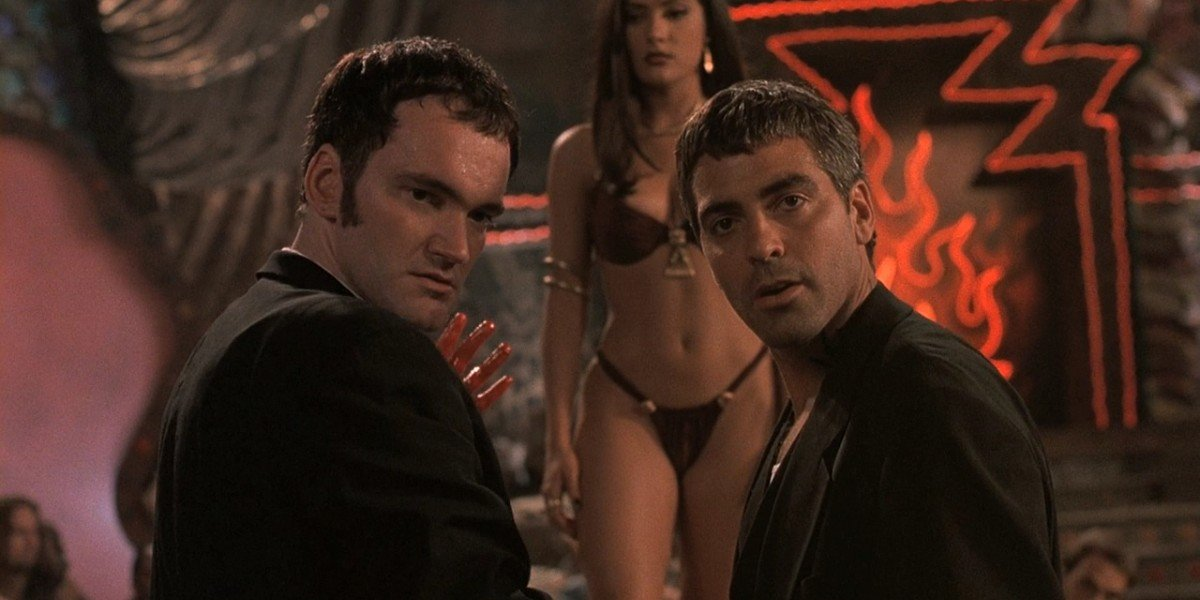 George Clooney, Salma Hayek, and Quentin Tarantino In From Dusk Till Dawn