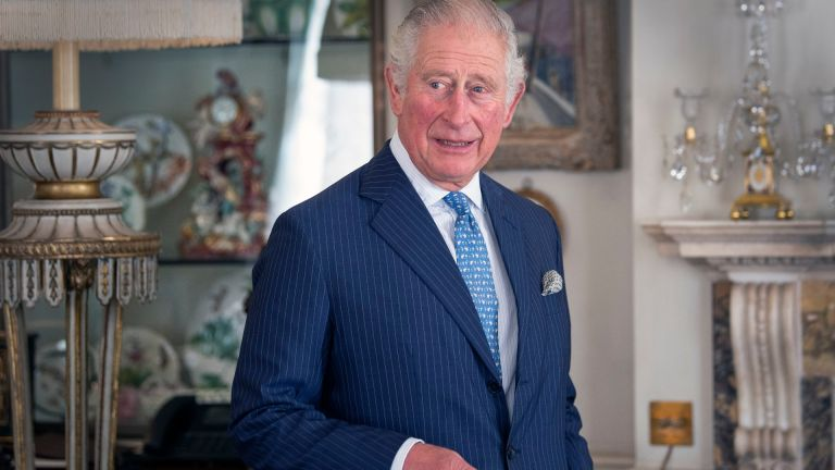 Prince Charles at Clarence House in October 2020, smiling at the camera