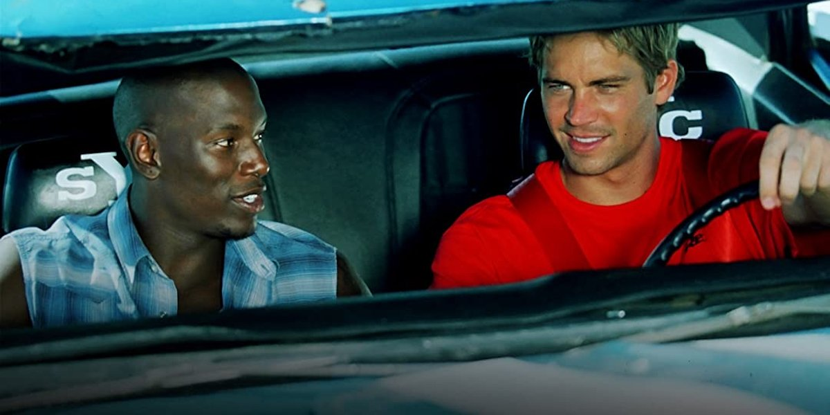Paul Walker and Tyrese Gibson in 2 Fast 2 Furious