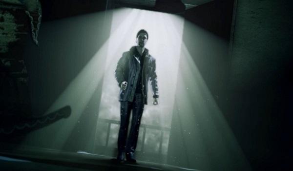 Alan Wake enters a spooky cabin