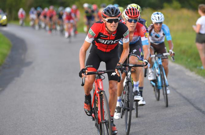 Tejay van Garderen stretches the peloton out