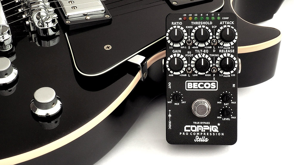 Becos FX's CompIQ Pro Stella gives you rack-style compression in a compact pedal