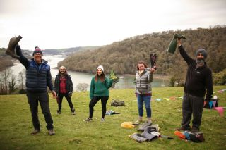 The ramblers in Take A Hike (from left) Colin, Julian, Rosie, Helen and Chaz.