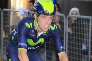 Alex Dowsett looks drained after his efforts in the break during Stage 2 of the 2014 Tirreno Adriatico