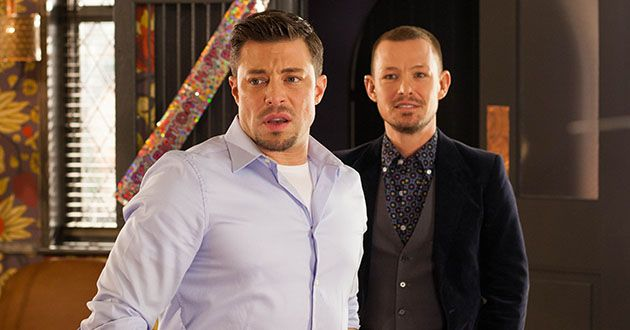 Ryan Knight makes a point of flirting with Tegan Lomax when Kyle Kelly turns up at Aunty Doreen's party in Hollyoaks.