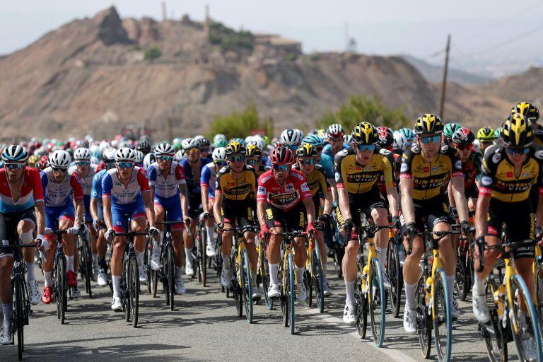 The peloton at the 2021 Vuelta a España