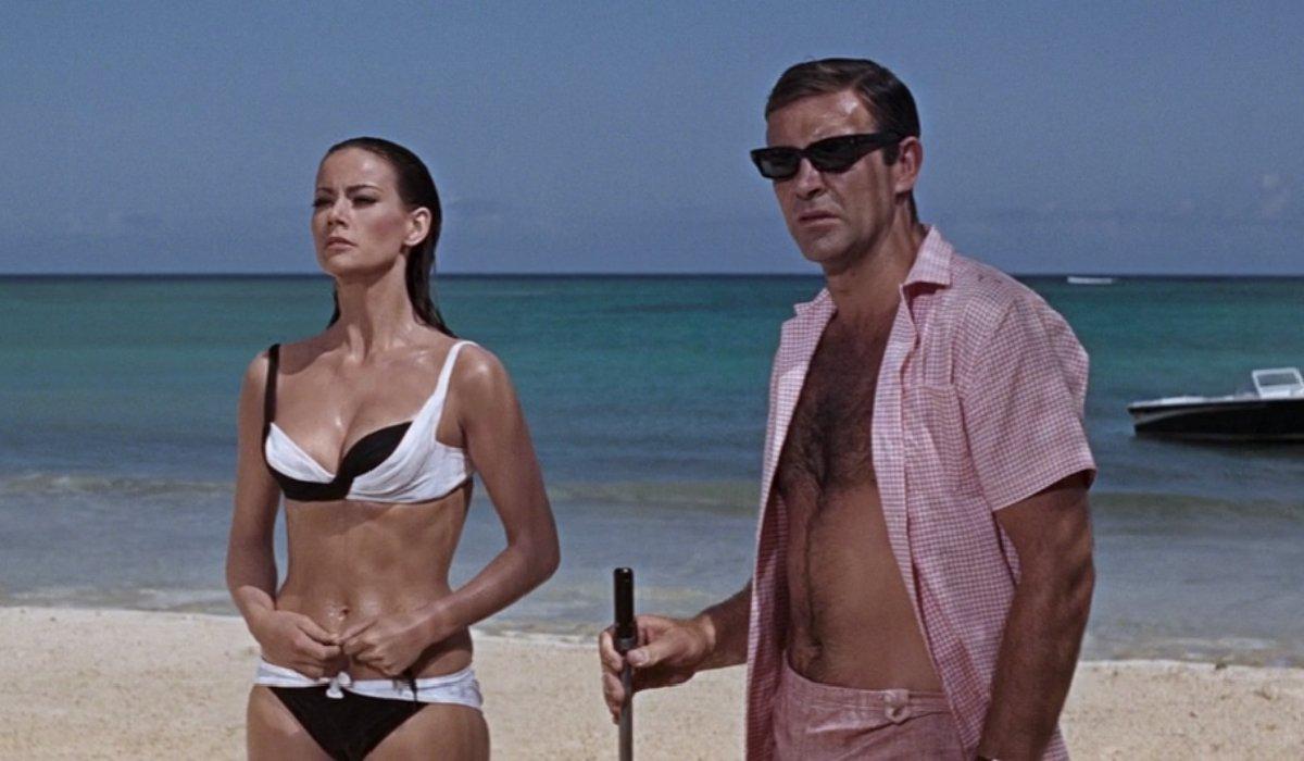 Thunderball Domino and Bond on the beach