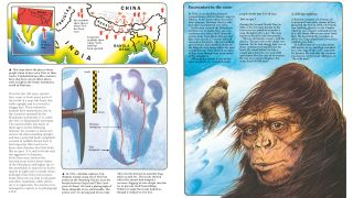 A spread about the Abominable Snowman from The World of the Unknown: Monsters.