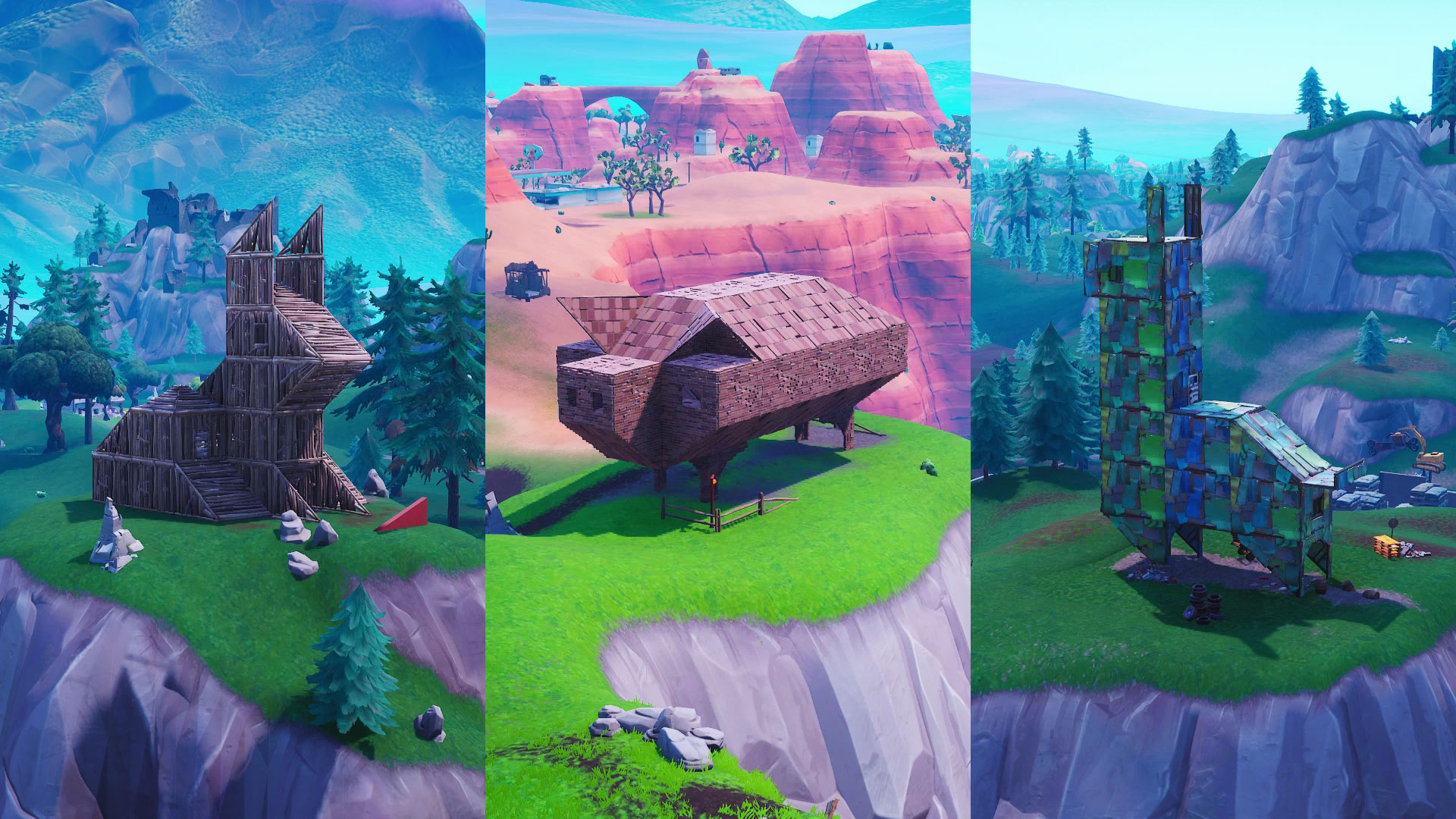where to visit a wooden rabbit a stone pig and a metal llama in fortnite season 8 week 6 challenge gamesradar - fortnite wooden rabbit stone pig location