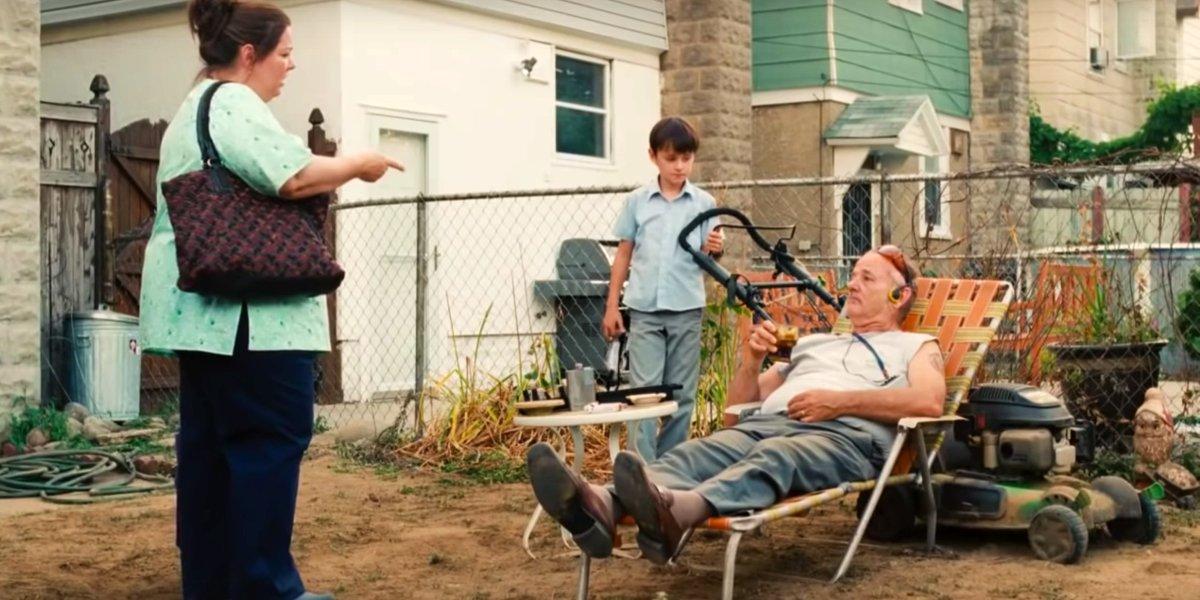 Melissa McCarthy, Jaeden Martell, and Bill Murray in St. Vincent
